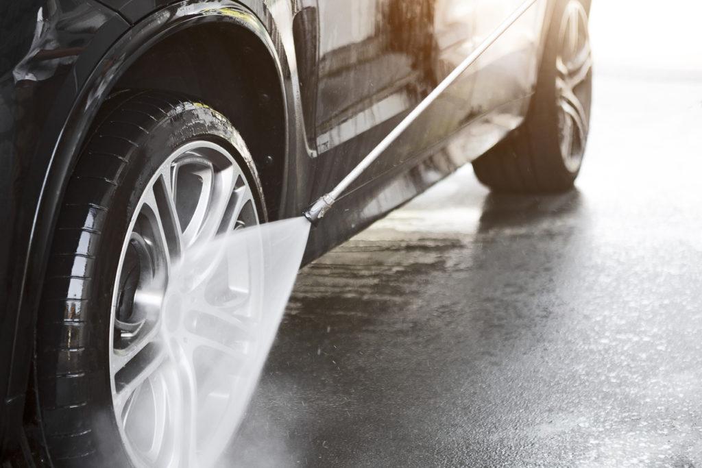 Car wash on a sunny day